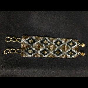 Seed bead peyote stitch bracelet
